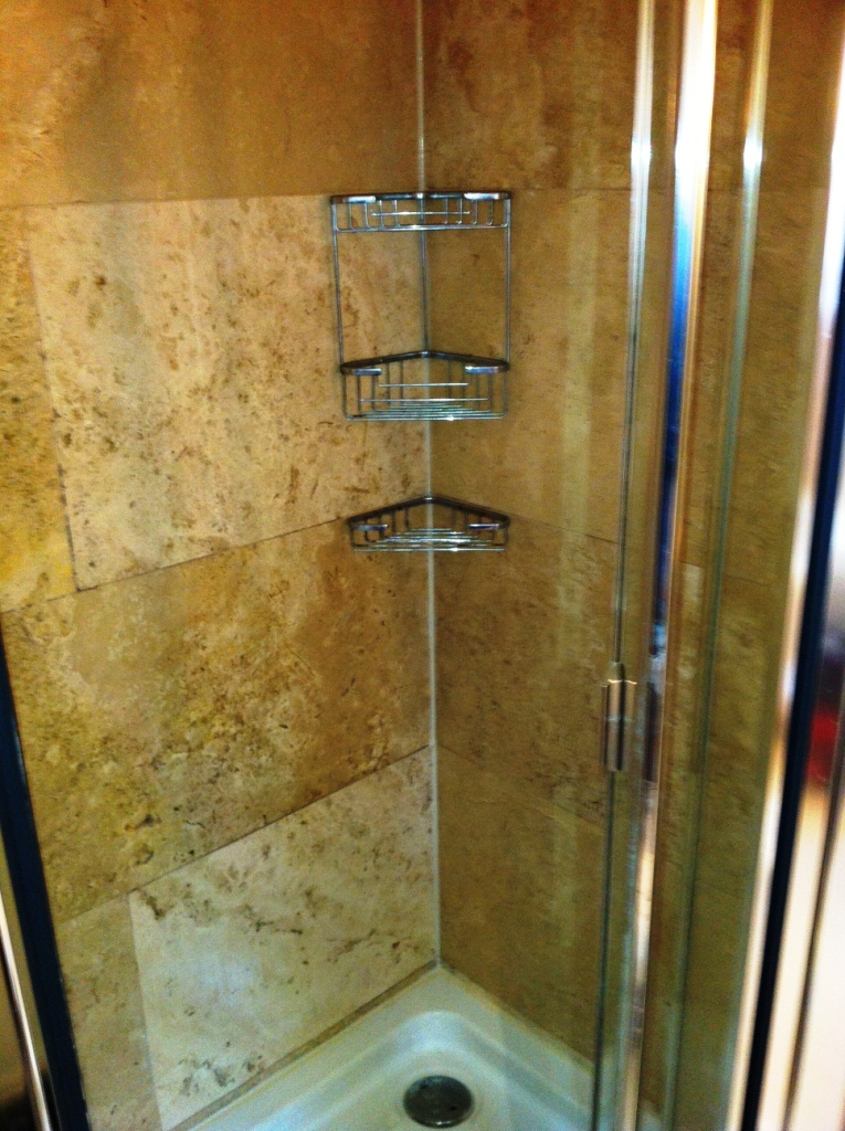 Travertine Shower Tile After