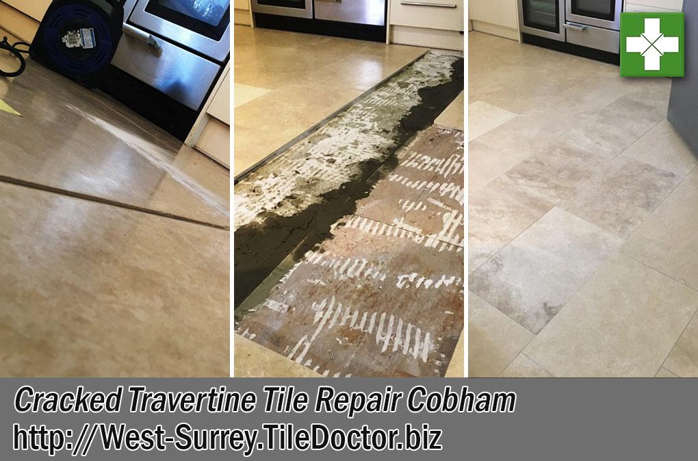 Replacing Cracked Travertine Floor Tiles In A Cobham