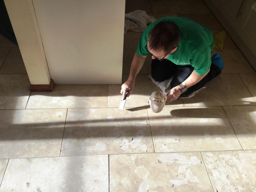 Filling Holes in Travertine