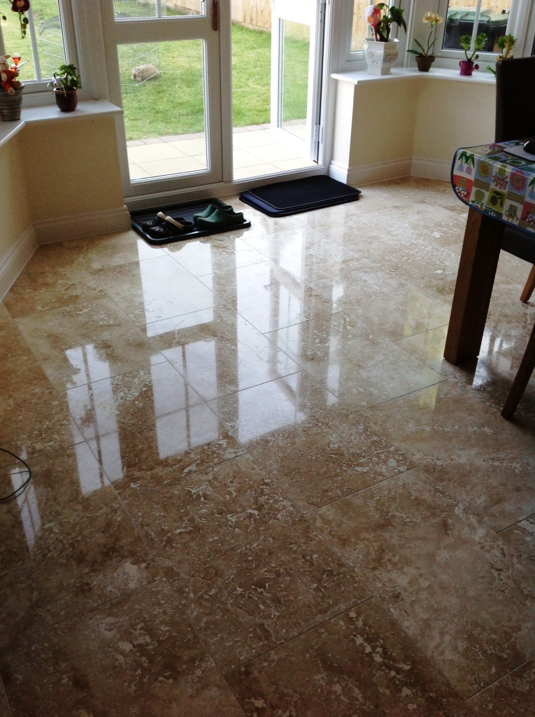 Polishing Travertine