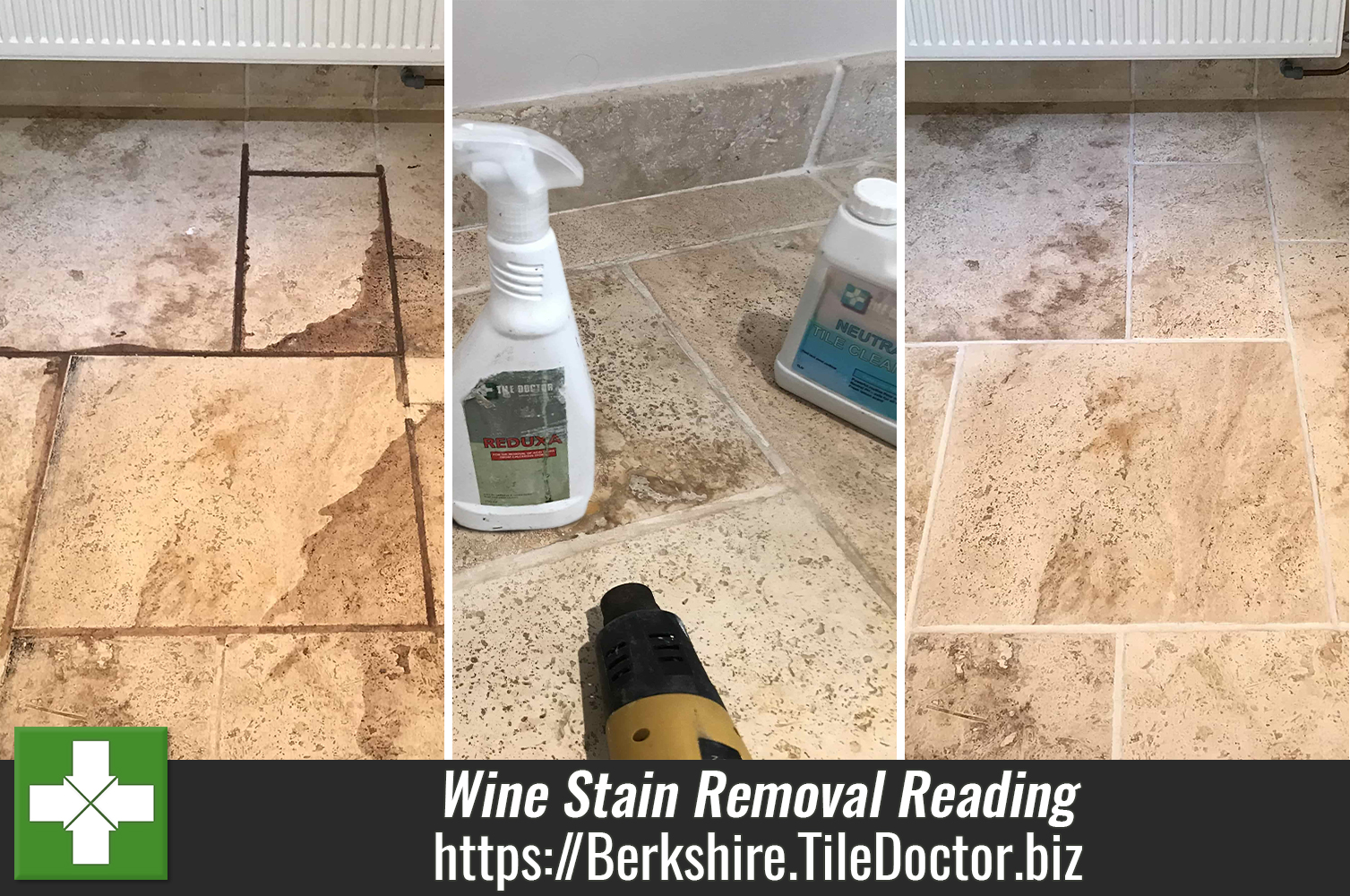 Travertine-Floor-Red-Wine-Stain-Removal-Swallowfield-Reading