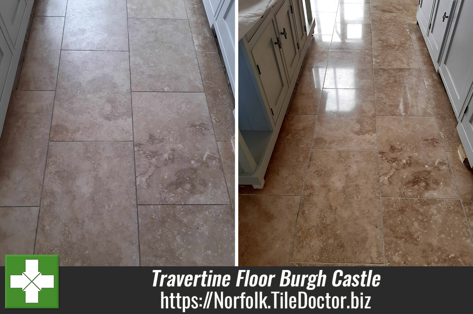 Travertine-Kitchen-Floor-Face-Lift-Burgh-Castle-Great-Yarmouth